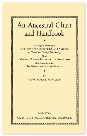 an ancestral chart and handbook genealogical notes of the sutton