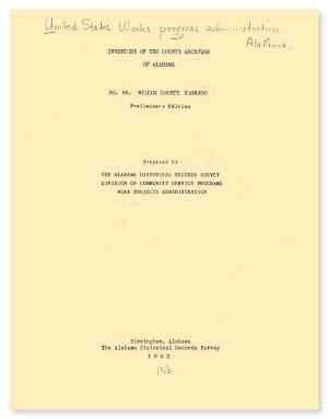 Alabama wilcox county camden - Inventory Of The County Archives Of Alabama Wilcox County Camden
