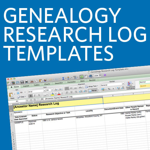 Genealogy Research Log Templates, SAVE 10% THRU 1/31