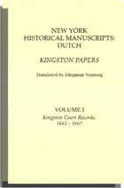 New York Historical Manuscripts Dutch Kingston Papers. Two Volumes. Dingman Versteeg, Trans.