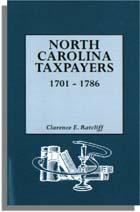 North Carolina Taxpayers, 1701-1786. [Volume 1]. Clarence E. Ratcliff